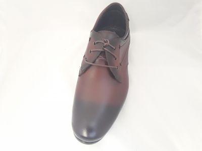 alkalmi férfi bőrcipő 633/131 AM  BARNA ANTIK2