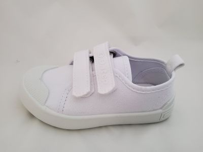 D.D.step tépőzáras  vászon cipő CSG-142L WHITE 30-35 méretben