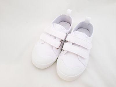D.D.step tépőzáras  vászon cipő CSG-142L WHITE 30-35 méretben2