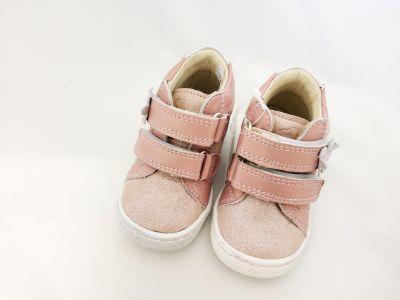 bőr félcipő 1553-504111 rózsaszín -ezüst 20-24 méretben2