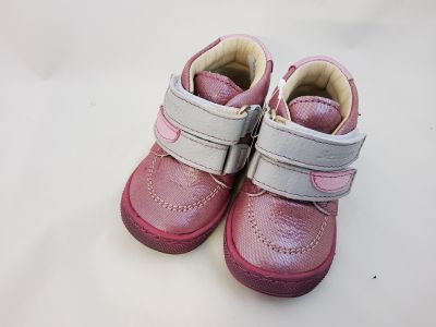 bőr félcipő 1552-408011  rózsaszín 2 tépős bokacipő 18-24  méretben2