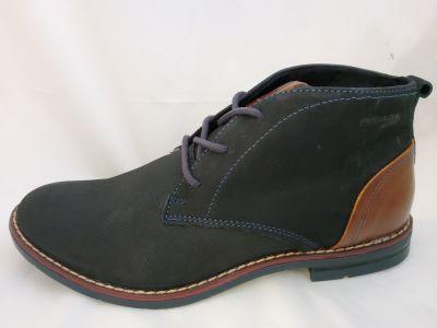 Férfi bőr száras cipő 121979-10 NOBUCK OIL NAVY/PULL UP CONHAQUE