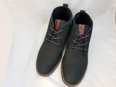 Férfi bőr száras cipő 121979-10 NOBUCK OIL NAVY/PULL UP CONHAQUE2