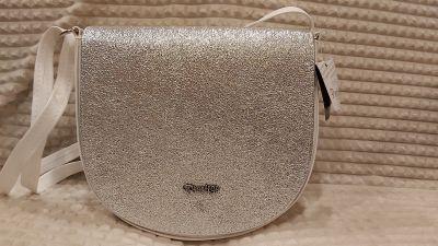 crossover jellegű merev falú  test /váll táska MF5 FEHÉR/EZÜST