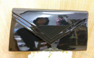 boríték táska 1289 fekete lakk