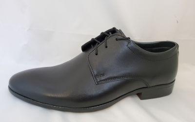 alkalmi férfi bőrcipő 090 fekete