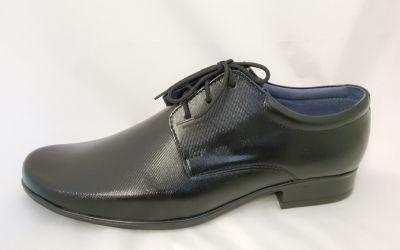 alkalmi férfi bőrcipő 060 fekete