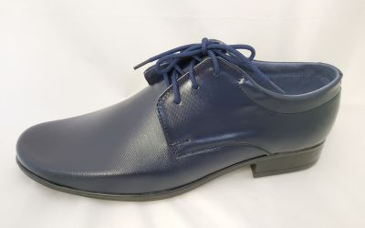 alkalmi férfi bőrcipő 060 sötétkék