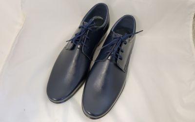 alkalmi férfi bőrcipő 060 sötétkék2