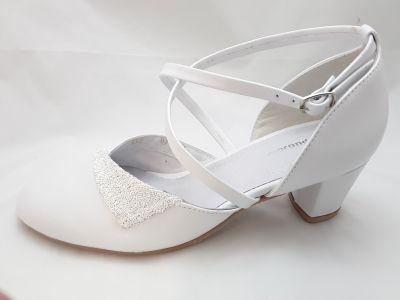 mennyasszony cipő 512  fehér p.+csiribiri
