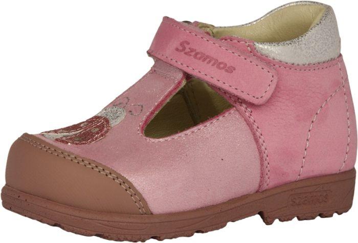 SZAMOS KÖLYÖK SUPINÁLT BŐR szandálcipő 3279-607491 rózsaszín 20-24 méretben large