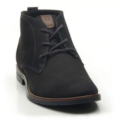 Elegáns száras cipő 121979-05 STERTCH PRETO/STRETCH CAMEL2