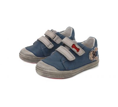 D.D.stepbőr félcipő  049-917A bermuda blue 25-30    méretben 2