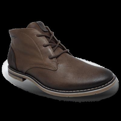 Elegáns száras cipő 121979-03 STRETCH BROWN/NOBUCK OIL  NAVY