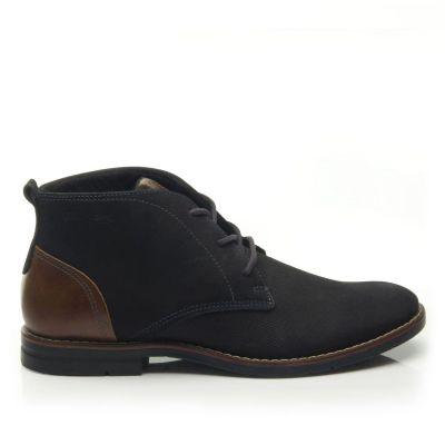 Elegáns száras cipő 121979-05 STERTCH PRETO/STRETCH CAMEL