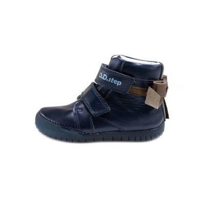 D.D.step bőr félcipő   LEDES villogó talpon 050-927AM ROYAL BLUE 25-30 méretben