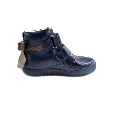 D.D.step bőr félcipő   LEDES villogó talpon 050-927AM ROYAL BLUE 25-30 méretben 2