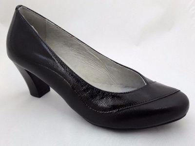 női félcipő ESTRELLA 5004 fekete/+lakk