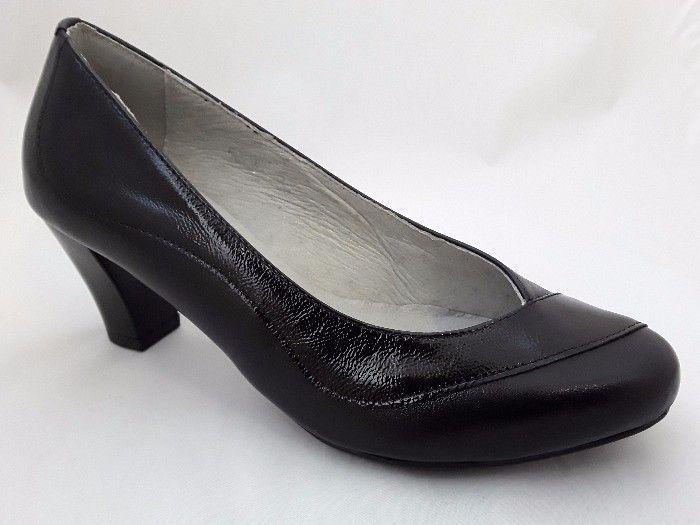 női félcipő ESTRELLA 5004 fekete/+lakk  large