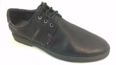 férfi bőr félcipő JA-MARC 440 R50 P16/1 fekete extra 46-48 méret