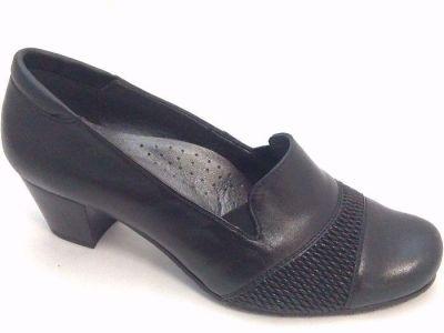 női zárt cipő OLIVETTI P-05 CZARNE