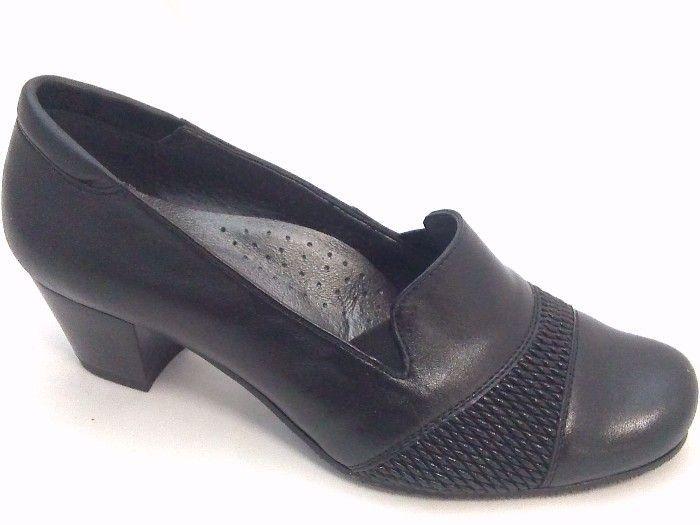 női zárt cipő OLIVETTI P 05 CZARNE | SZIVÁRVÁNY DIVAT CIPŐBOLT