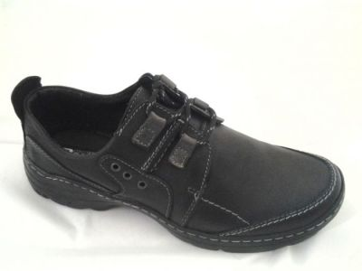 férfi bőr félcipő POLBUT 201 fekete