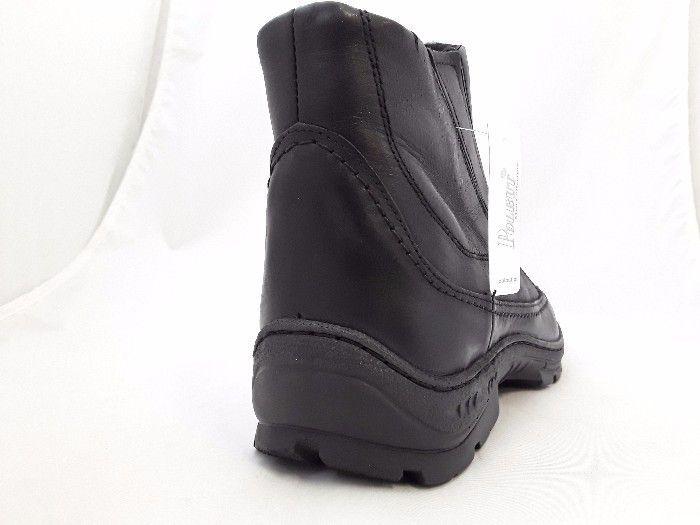 Bélelt bőr bokacipő POLBUT 388 Fekete 10 large