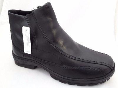 Bélelt bőr bokacipő POLBUT 388 Fekete 10