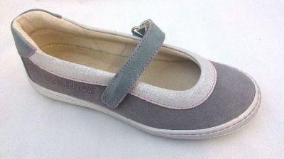 SZAMOS KÖLYÖK 3188-507053 7142 szürke 1tépős balerina cipő 31-35 méretben