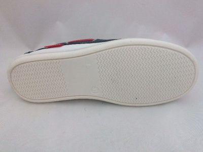 bőr félcipő 6121-502433 6429 piros-fehér-kék mokaszin 31-352