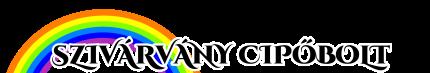 Szivárvány cipőbolt logo